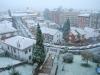 Ciudad Naranco cubierto de nieve