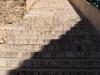 Escalinata a la entrada del muro